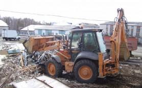 Вывоз строительного мусора компанией «Лэндмэн»