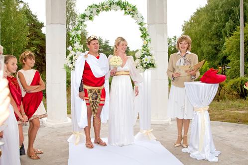 Бракосочетание в греческом стиле