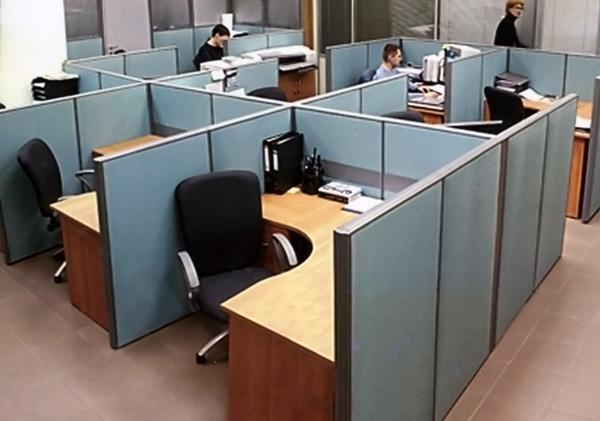 Использование перегородок в офисах