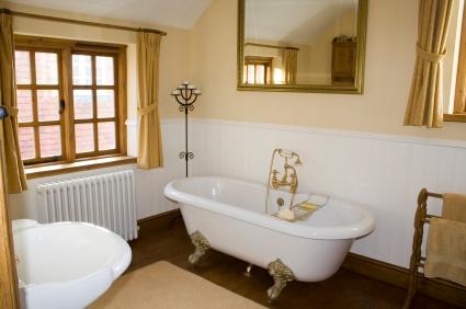Ретро-дизайн в ванной