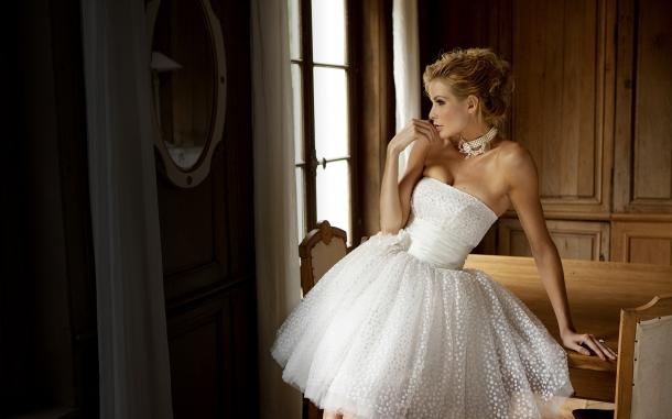 Оригинальный свадебный наряд