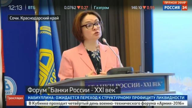 Набиуллина обещает не менять ДКП и помощь банкам
