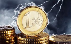 Евро упал в июль 2015 года